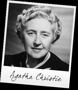 Agatha Christie - portret - pisarka kryminałów.