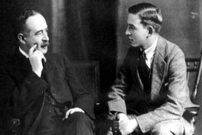 C. S. Lewis i jego ojciec.
